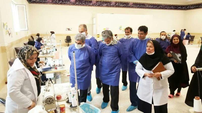 آموزش و پرورش البرز ۳۰ هزار ماسک تولید کرد