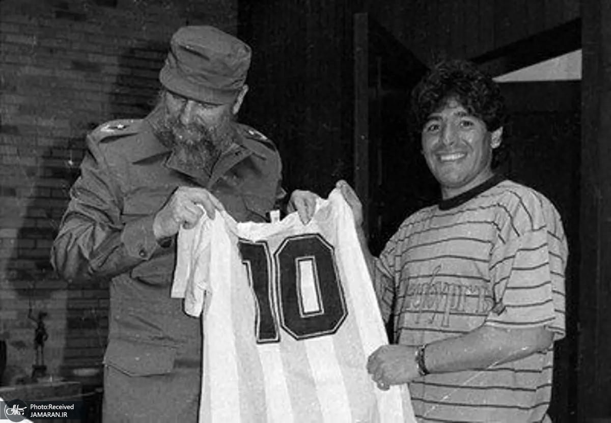 تصاویری از اسطوره فوتبال جهان دیگو مارادونا