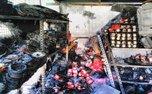 آتش سوزی در پاساژ خیابان سعدی