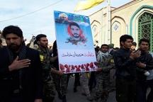 پیکر شهید مدافع حرم علی محمد محمدی در سمنان تشییع شد