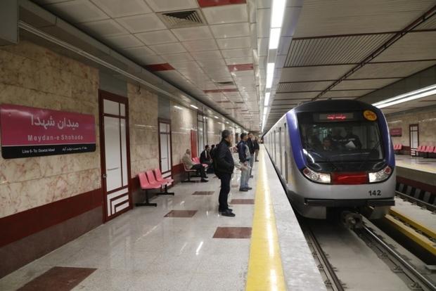 سرویس دهی در خط 6 مترو تهران کاهش یافت