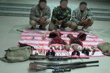 سه شکارچی غیرمجاز در سربیشه دستگیر شدند