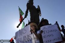 تصاویر/ شورش در مرز مکزیک