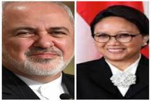 گفتوگوی تلفنی وزرای امور خارجه ایران و اندونزی در خصوص کرونا و تحریمها