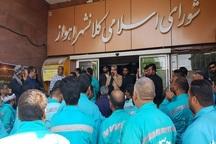 تعدادی از کارکنان شهرداری اهواز خواستار پرداخت مطالبات شدند