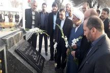 تجدید میثاق وزیر دادگستری با شهدای قزوین
