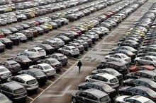تصاویر هوایی از صدها خودرو در پارکینگی در روسیه