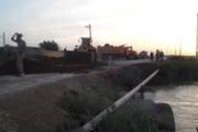 پل آسیب دیده روستای ناهی اروندکنار بازسازی شد