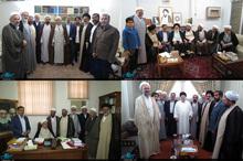 گزارش جماران از دیدار مدیران نمایندگی قم مؤسسه تنظیم و نشر آثار امام خمینی(س) با مراجع و علما