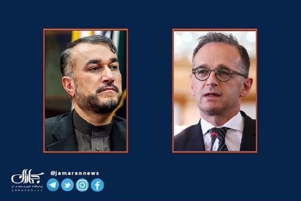 امیرعبداللهیان خطاب به وزیر خارجه آلمان: برای ارسال واکسن بایون تک اقدام کنید