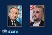 امیرعبداللهیان خطاب به دبیرکل سازمان ملل: در حال بررسیهای لازم درباره مذاکرات وین هستیم/ پرونده ترور سردار سلیمانی را با جدیت دنبال میکنیم