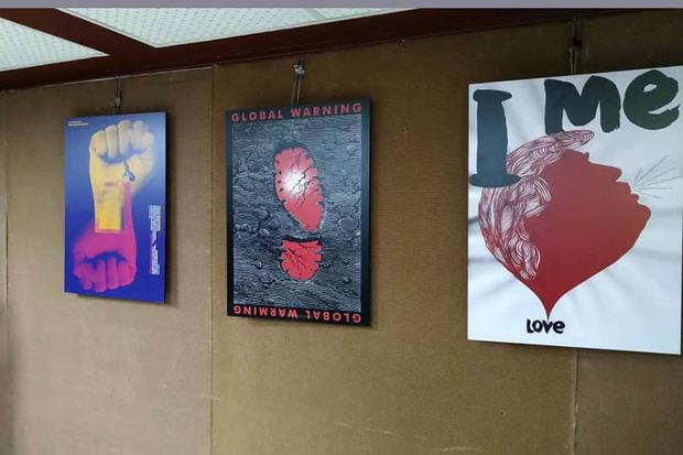 نمایشگاه بین المللی پوستر بالکن در سقز برپا شد