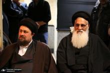 حضور سید حسن خمینی در مدرسه علمیه آیت الله العظمی خوانساری(ره)