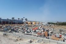 چهار سازه غیرمجاز در مزارع کشاورزی شوشتر تخریب شد