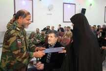 همسران جانبازان ارتشی تقدیر شدند
