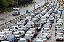 ترافیک طولانی و کندی حرکت در آزاد راه تهران - کرج - قزوین