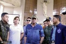 عکس/ بازدید رئیس جمهور فیلیپین از محل حمله داعش