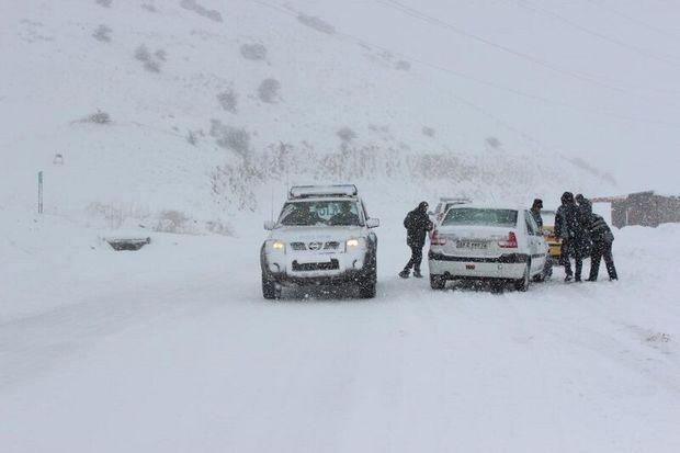 جادههای کوهستانی استان اردبیل برفی است