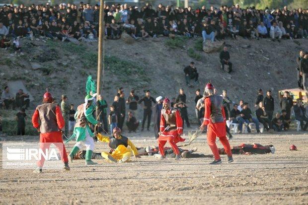 ۲۱۰ آیین تعزیه خوانی در سبزوار برگزار شد