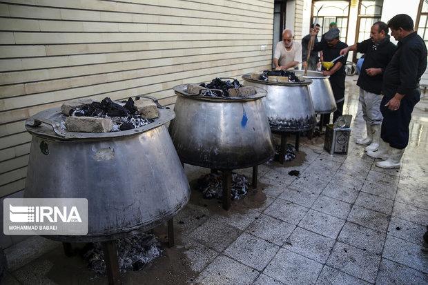 پخت نذری در عزاداریهای محرم کرمان