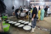 توزیع روزانه پنج تن مواد غذایی میان موکب های مستقر در مرز مهران