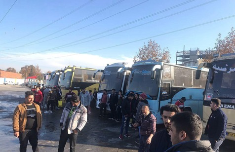 هواداران نساجی در انتظار تصمیم سازمان لیگ+عکس