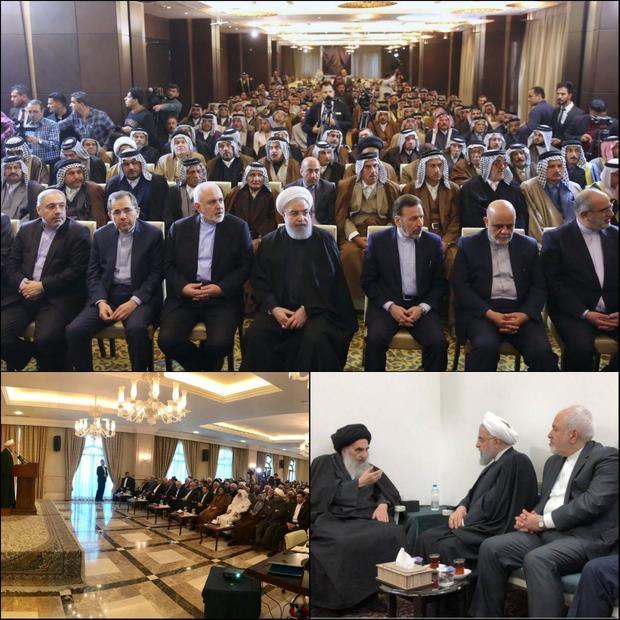گزارش ظریف از دومین و سومین روز سفر روحانی به عراق