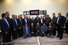 دیدار رئیس و مسئولین شورای عالی استان ها باسید حسن خمینی