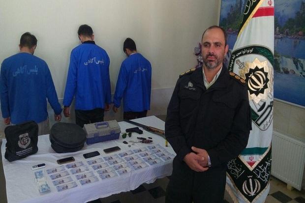 سارقان مسلح مامورنما در هشترود دستگیر شدند