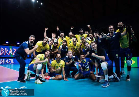لیگ ملت های والیبال 2021 - تیم والیبال ایران و برزیل