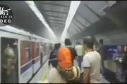 آتش سوزی در ایستگاه متروی شهید مدنی