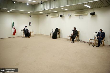 دیدار خانواده شهید فخریزاده با رهبر معظم انقلاب