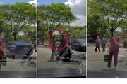 ویدئو/ لحظه سرقت گردنبند زن عابر پیاده در خیابان