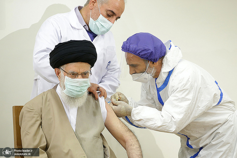 دریافت دُز اول واکسن ایرانی کرونا توسط رهبر معظم انقلاب