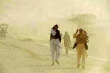 سرعت وزش باد در زابل به بیش از ۱۰۰ کیلومتر بر ساعت رسید