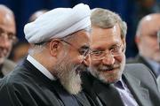 تشکر توییتری روحانی از لاریجانی