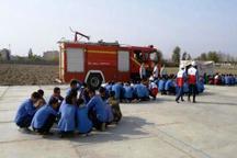 تمرین پدافند غیر عامل در مدارس همدان برگزار شد