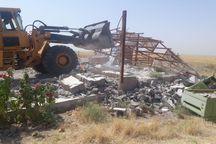 تخریب ۱۵ بنای غیرقانونی در حسنآباد همدان