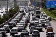 ترافیک در جاده کرج - چالوس سنگین   آزاد راه تهران - کرج نیمه سنگین