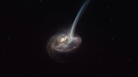 عکس حیرت انگیز از کهکشان در حال مرگ