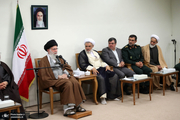 دیدار اعضای ستاد کنگره شهدای استان هرمزگان با رهبر معظم انقلاب