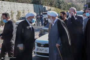 مراسم تشییع همسر آیت الله ری شهری با حضور سید حسن خمینی
