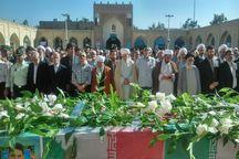 تشییع پیکر شهید مدافع حرم در نیشابور