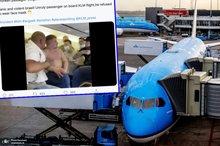 دعوا بر سر ماسک زدن در هواپیما+ تصاویر