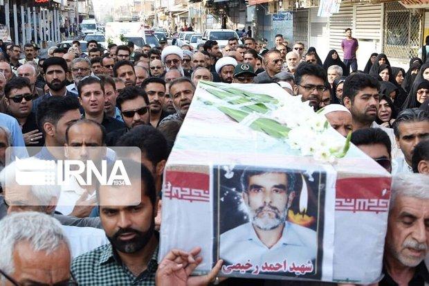 پیکر یک جانباز شهید در آبادان تشییع شد