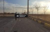 تصاویری از محل ترور دانشمند کشورمان (2)