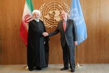 رئیسجمهور روحانی: اراده ایران همکاری و هماهنگی همه جانبه با سازمان ملل متحد است/ نباید عهدشکنی و بی قانونی در جامعه جهانی عادی و رویه شود /گوترش: برجام مورد تایید سازمان ملل و شورای امنیت است و باید اجرا شود/ تفدیر از نقش مثبت ایران در تحولات سوریه