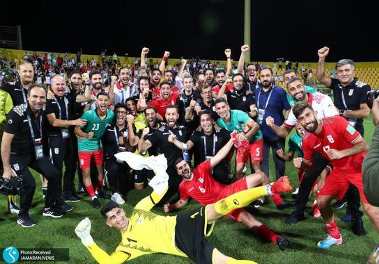 خوشحالی  تیم ملی فوتبال ایران