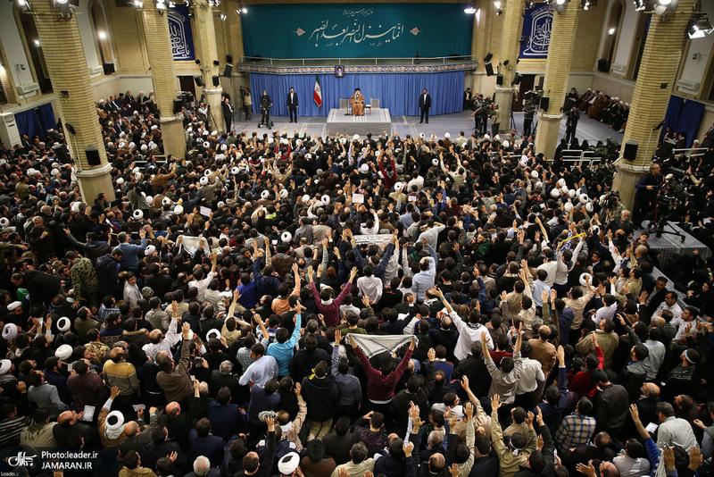 دیدار هزاران نفر از مردم آذربایجان شرقی با رهبر معظم انقلاب
