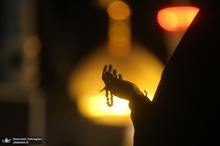 مراسم احیای شب بیست و یکم ماه رمضان در جوار حرم کریمه اهل بیت(س)